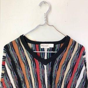 Vintage Textile V-Neck Wool Sweater